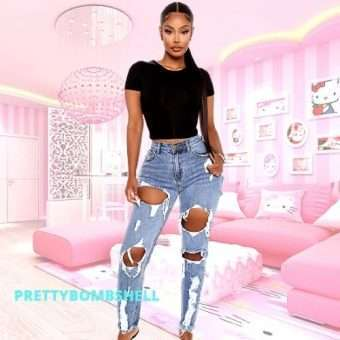 Pink_Beach_Babe_Light Blue Stone Washed Girlfriend Jeans