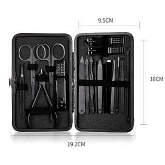 Pretty_Bombshell_Pure Black Stainless Steel Manicure Set