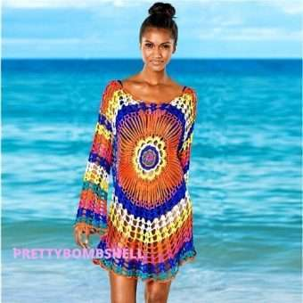 Dream Crochet Colorful Cover Up