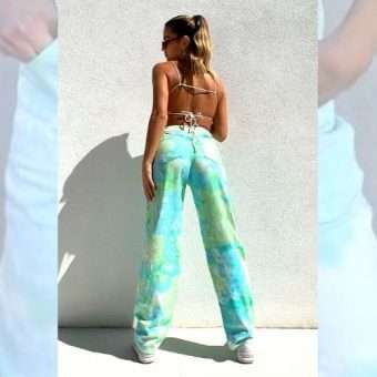 Cool Waters Tie Dye Button Fly Jeans