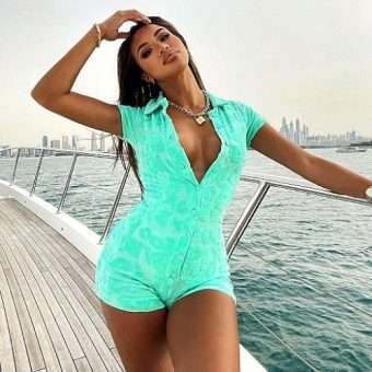 Minty Button Up Lounge Romper