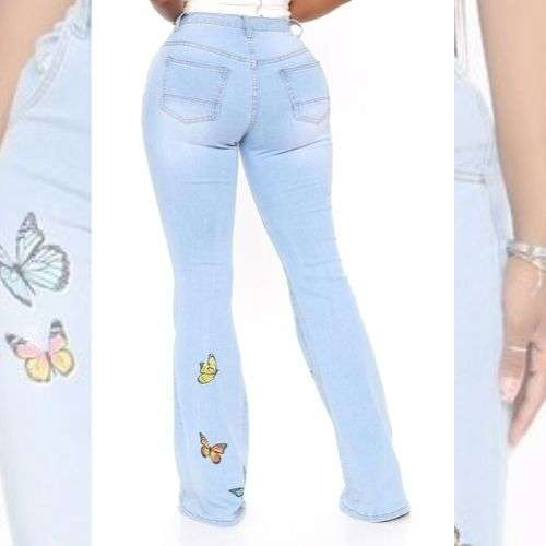 Vintage Butterfly Bell Bottoms Jeans