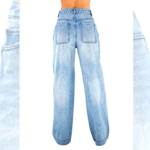 Vintage Wide Leg High Waisted Jeans